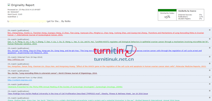 Turnitin UK QuickView报告1